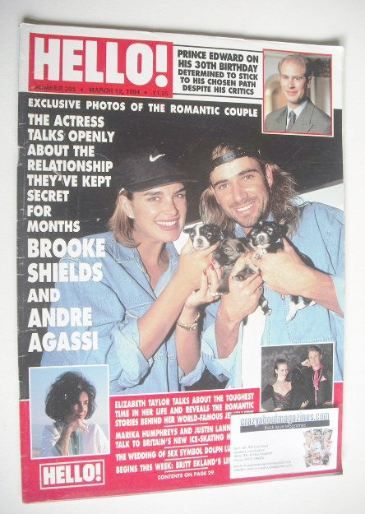 <!--1994-03-12-->Hello! magazine - Brooke Shields and Andre Agassi cover (1