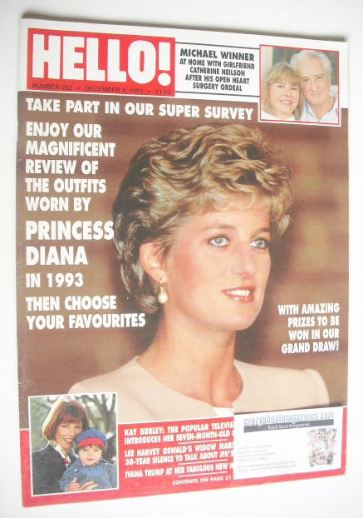<!--1993-12-04-->Hello! magazine - Princess Diana cover (4 December 1993 -