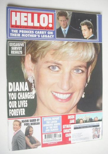 <!--2007-09-04-->Hello! magazine - Princess Diana cover (4 September 2007 -