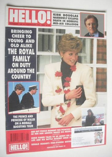 <!--1991-02-23-->Hello! magazine - Princess Diana cover (23 February 1991 -