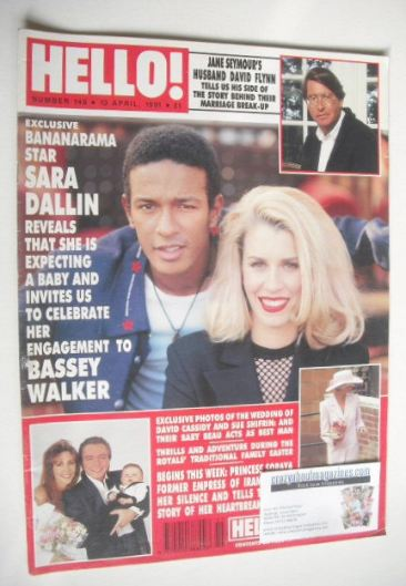 <!--1991-04-13-->Hello! magazine - Sara Dallin cover (13 April 1991 - Issue