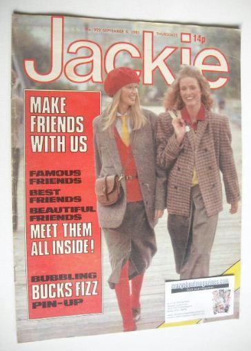 <!--1981-09-05-->Jackie magazine - 5 September 1981 (Issue 922)