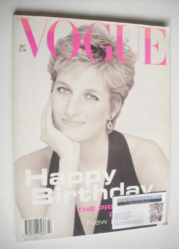 <!--1994-07-->British Vogue magazine - July 1994 - Princess Diana cover