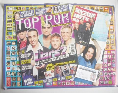 <!--1997-10-->Top Of The Pops magazine - Backstreet Boys cover (October 199
