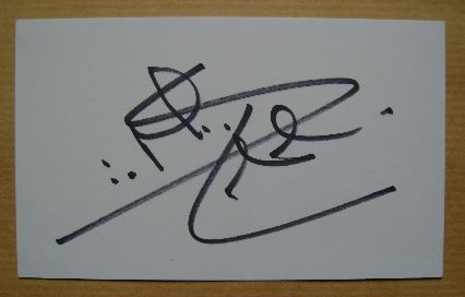 Simon MacCorkindale autograph (hand-signed white card)