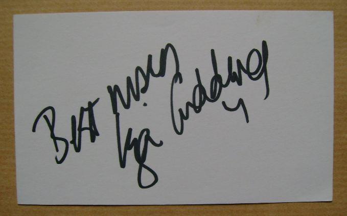 Liza Goddard autograph (hand-signed white card)
