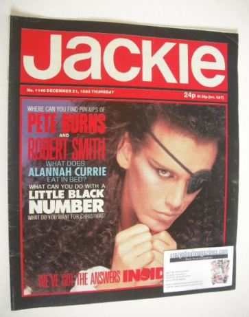 <!--1985-12-21-->Jackie magazine - 21 December 1985 (Issue 1146 - Pete Burn