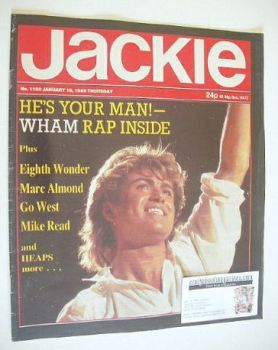 Jackie magazine - 18 January 1986 (Issue 1150 - George Michael cover)