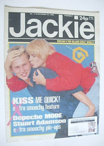 <!--1985-10-26-->Jackie magazine - 26 October 1985 (Issue 1138)