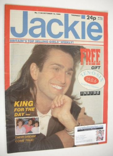 <!--1985-10-12-->Jackie magazine - 12 October 1985 (Issue 1136 - Paul King