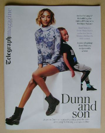 <!--2016-04-09-->Telegraph magazine - Jourdan Dunn and son Riley cover (9 A