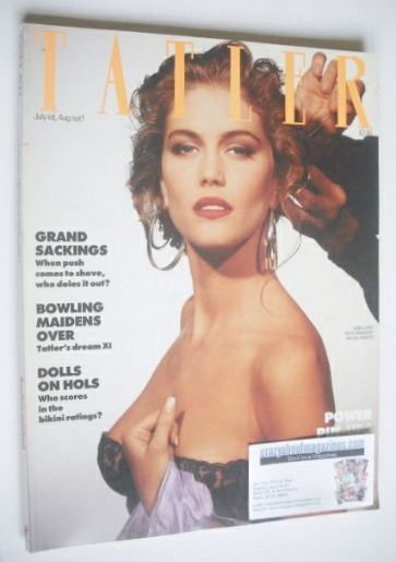 <!--1988-07-->Tatler magazine - July/August 1988 - Denice Lewis cover