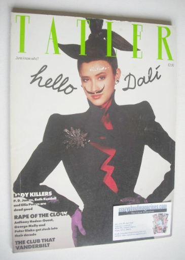 <!--1988-06-->Tatler magazine - June 1988 - Denice Lewis cover