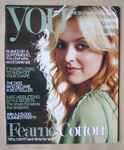 you magazine fearne cotton cover 9 july 2006. Black Bedroom Furniture Sets. Home Design Ideas