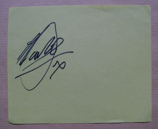 Marti Pellow autograph (hand-signed piece of paper)