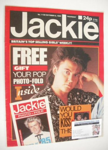 <!--1985-10-05-->Jackie magazine - 5 October 1985 (Issue 1135 - Paul Young