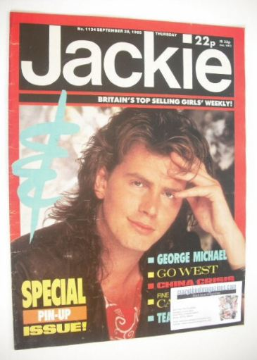 <!--1985-09-28-->Jackie magazine - 28 September 1985 (Issue 1134 - John Tay