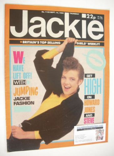 <!--1985-09-14-->Jackie magazine - 14 September 1985 (Issue 1132)