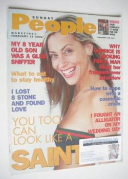 Sunday People magazine - 25 February 2001 - Nicole Appleton cover