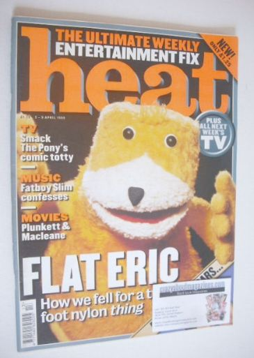 <!--1999-04-03-->Heat magazine - Flat Eric cover (3-9 April 1999)