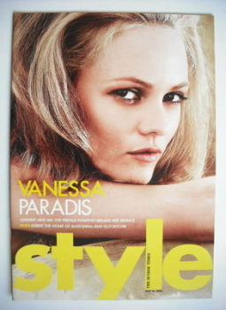 Style magazine - Vanessa Paradis cover (16 May 2004)