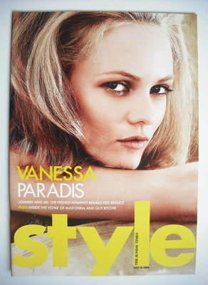 <!--2004-05-16-->Style magazine - Vanessa Paradis cover (16 May 2004)
