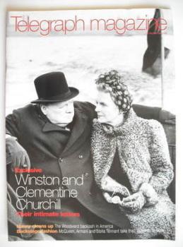 Telegraph magazine - Winston Churchill and Clementine Churchill cover (26 September 1998)