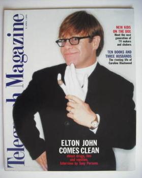 Telegraph magazine - Elton John cover (8 April 1995)