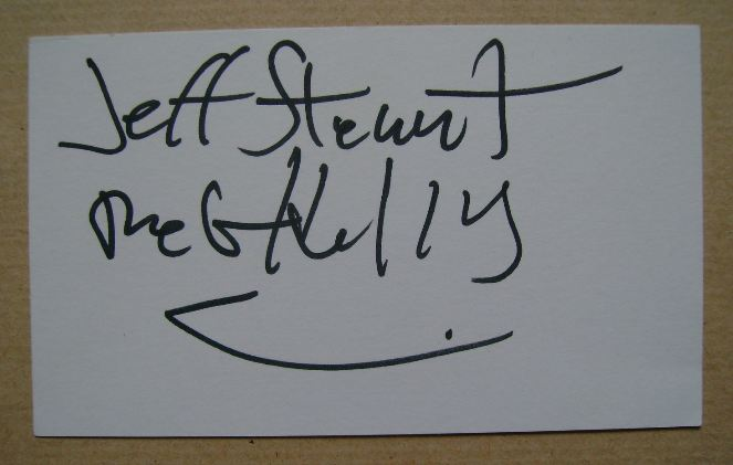 Jeff Stewart autograph (hand-signed white card)