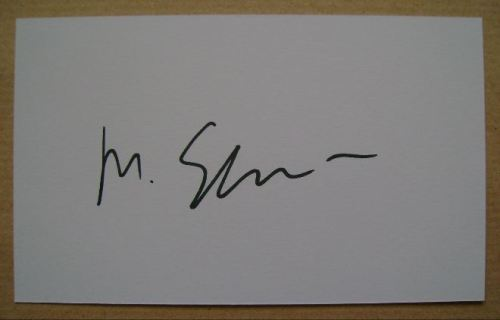 Martin Scorsese autograph (hand-signed white card)