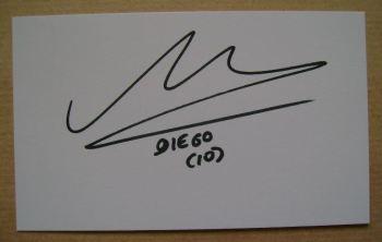 Diego Maradona autograph (hand-signed white card)