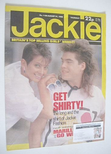 <!--1985-08-31-->Jackie magazine - 31 August 1985 (Issue 1130)