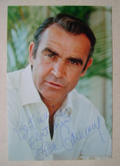 Sean Connery autograph (hand-signed photograph)