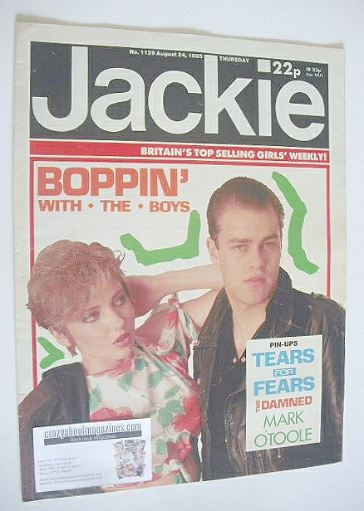 <!--1985-08-24-->Jackie magazine - 24 August 1985 (Issue 1129)