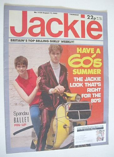 <!--1985-08-17-->Jackie magazine - 17 August 1985 (Issue 1128)