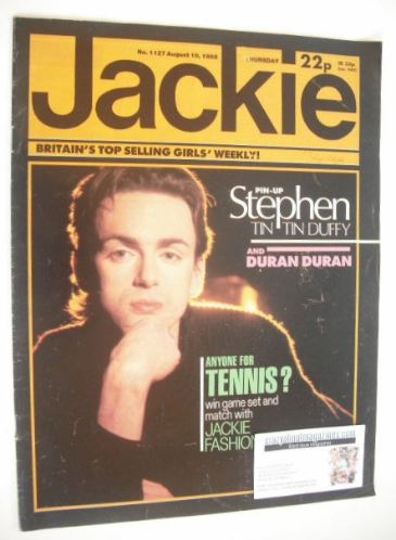 <!--1985-08-10-->Jackie magazine - 10 August 1985 (Issue 1127 - Stephen Duf