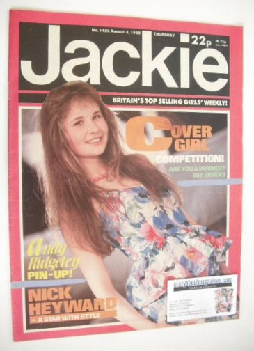 <!--1985-08-03-->Jackie magazine - 3 August 1985 (Issue 1126)