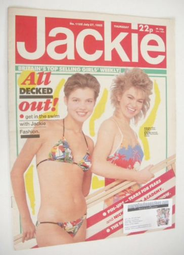 <!--1985-07-27-->Jackie magazine - 27 July 1985 (Issue 1125)