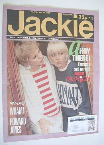 <!--1985-07-20-->Jackie magazine - 20 July 1985 (Issue 1124)