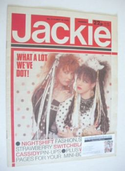 Jackie magazine - 18 May 1985 (Issue 1115 - Strawberry Switchblade cover)