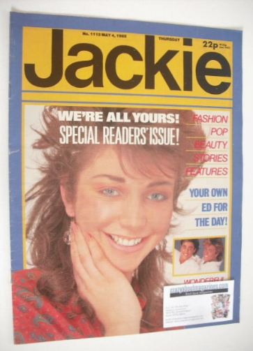 <!--1985-05-04-->Jackie magazine - 4 May 1985 (Issue 1113)