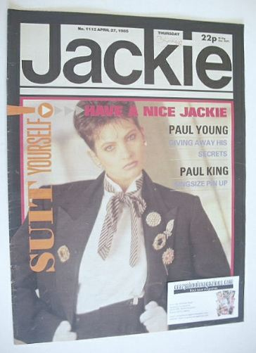 <!--1985-04-27-->Jackie magazine - 27 April 1985 (Issue 1112)