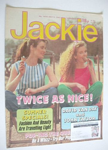 <!--1983-07-09-->Jackie magazine - 9 July 1983 (Issue 1018)