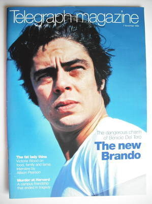 <!--1998-11-07-->Telegraph magazine - Benicio Del Toro cover (7 November 19