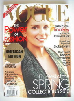 US Vogue magazine - March 2010 - Tina Fey cover