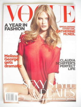 Australian Vogue magazine - January 2010 - Catherine McNeil cover
