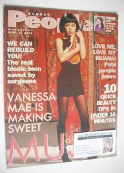 Sunday People magazine - 30 April 2000 - Vanessa Mae cover