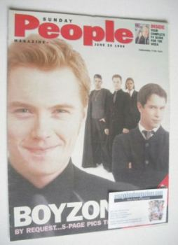 <!--1999-06-20-->Sunday People magazine - 20 June 1999 - Boyzone cover