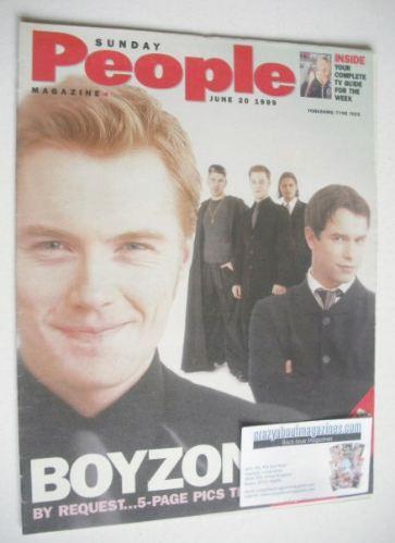 <!--1999-06-20-->Sunday People magazine - 20 June 1999 - Boyzone cover