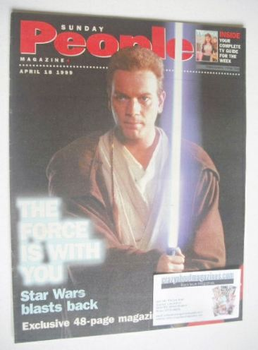 <!--1999-04-18-->Sunday People magazine - 18 April 1999 - Ewan McGregor cov